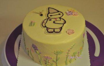 蛋糕裱花之报春花